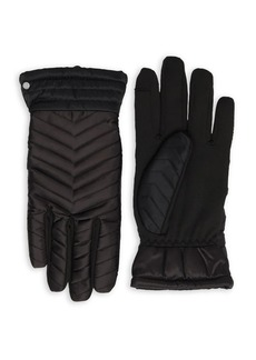 Lauren Ralph Lauren Puffer Quilted Chevron Gloves