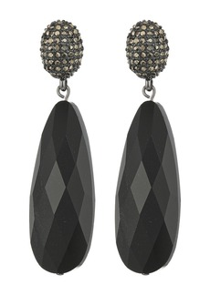 Ralph Lauren Pyrite Pave Post with Long Teardrop Earrings