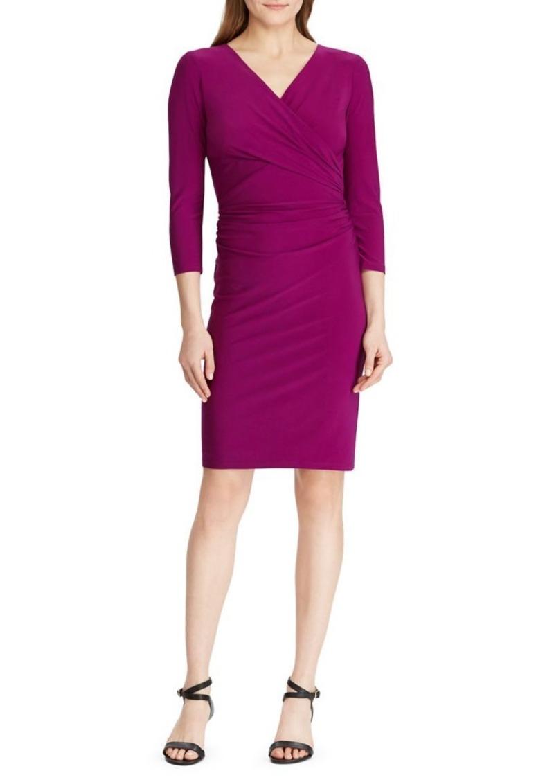 Lauren Ralph Lauren Quarter-Sleeve Jersey Sheath Dress