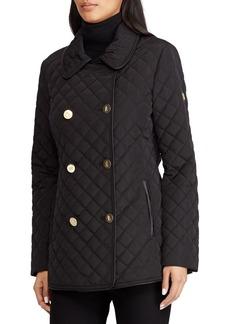 Lauren Ralph Lauren Quilted Faux Fur Double-Breasted Coat