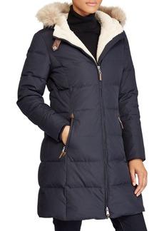 Lauren Ralph Lauren Quilted Faux-Fur Down Coat