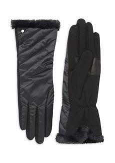 Lauren Ralph Lauren Quilted Faux Fur Gloves
