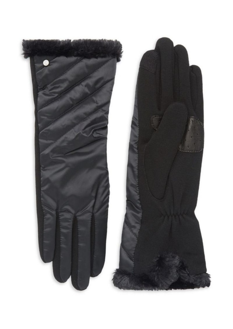 Lauren Ralph Lauren Women's Quilted Faux Fur Gloves