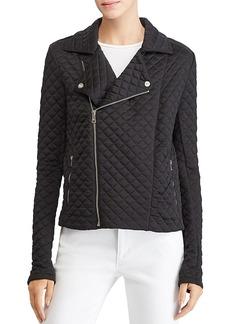 Lauren Ralph Lauren Quilted Knit Moto Jacket