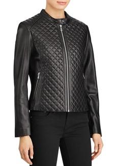 Lauren Ralph Lauren Quilted Leather Jacket