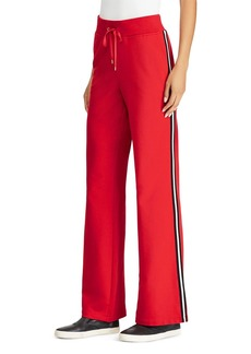 Lauren Ralph Lauren Racing Stripe Flare Sweatpants