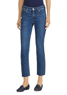 Lauren Ralph Lauren Raw-Hem Cropped Jeans in Indigo