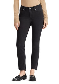 Lauren Ralph Lauren Regal Straight Step-Hem Jeans in Charcoal