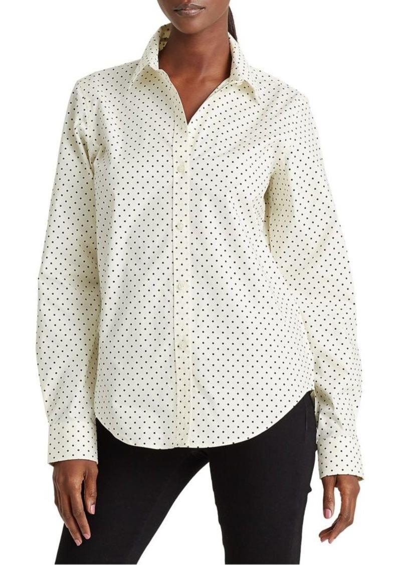 Lauren Ralph Lauren Regular-Fit Polka Dot Non-Iron Shirt