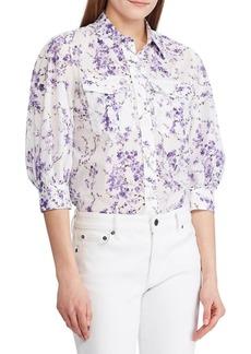 Lauren Ralph Lauren Relaxed-Fit Cotton Voile Button-Down Shirt