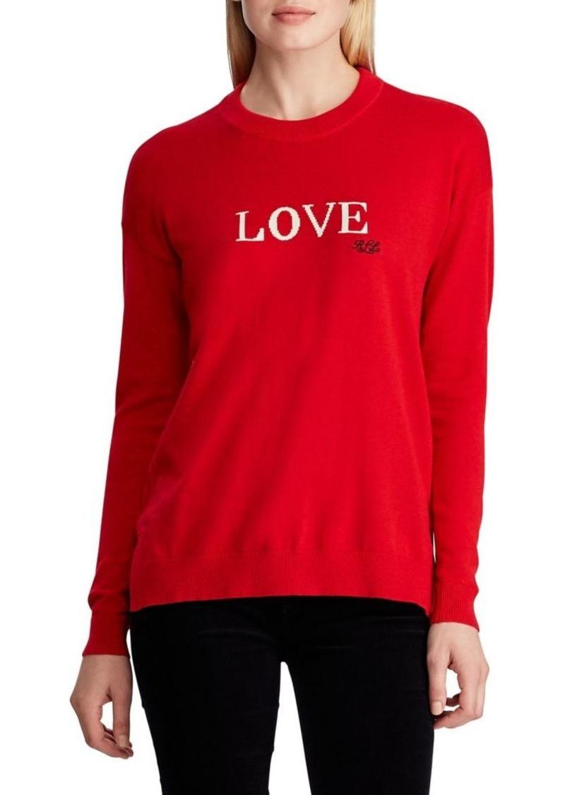 Lauren Ralph Lauren Relaxed-Fit Love Cotton-Blend Sweater