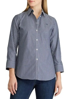 Lauren Ralph Lauren Relaxed-Fit Non-Iron Striped Shirt