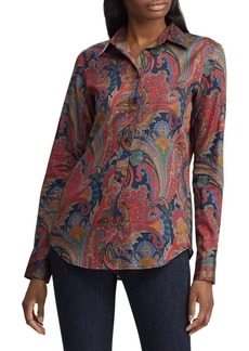 Lauren Ralph Lauren Relaxed-Fit Paisley-Print Cotton Shirt