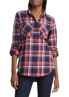 Lauren Ralph Lauren Relaxed-Fit Plaid Cotton Shirt