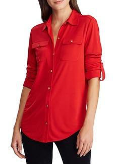 Lauren Ralph Lauren Relaxed-Fit Roll-Tab Sleeve Shirt
