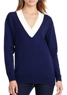 LAUREN RALPH LAUREN Relaxed V-Neck Sweater