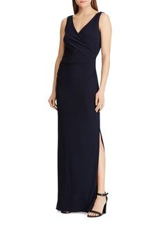 Lauren Ralph Lauren Rhinestone-Embellished Jersey Gown