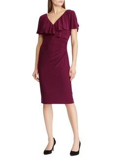 Lauren Ralph Lauren Rhinestone-Pin Jersey Dress