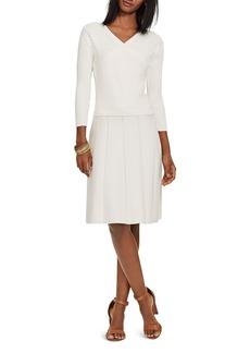 Lauren Ralph Lauren Rib Knit Bodice Sweater Dress