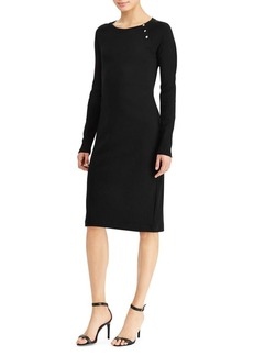 Lauren Ralph Lauren Rib-Knit Cotton T-Shirt Dress