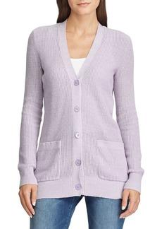 Lauren Ralph Lauren Ribbed Cotton-Blend Cardigan