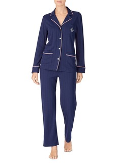 Lauren Ralph Lauren Ribbed Pajama Set