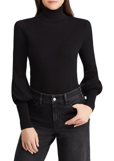 Lauren Ralph Lauren Ribbed Puffed-Sleeve Sweater
