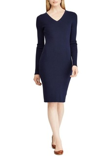 Lauren Ralph Lauren Ribbed Sheath Dress