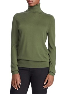 Lauren Ralph Lauren Ribbed Silk-Blend Turtleneck