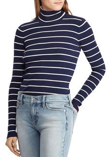 Lauren Ralph Lauren Ribbed Stripe Turtleneck Sweater