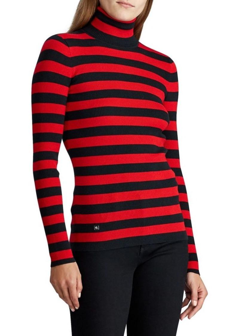 Lauren Ralph Lauren Ribbed Turtleneck Cotton-Blend Sweater