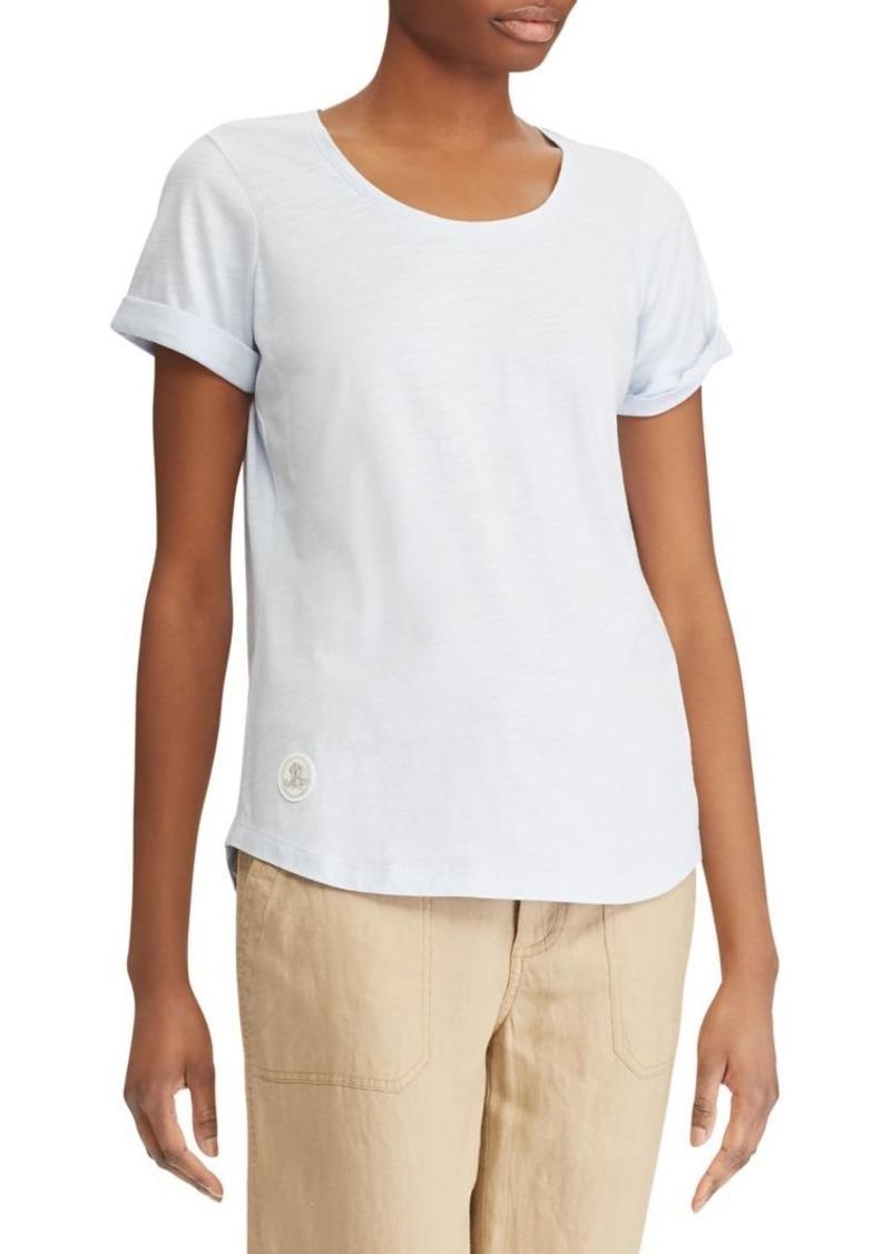 70d31e7323 Ralph Lauren Lauren Ralph Lauren Rolled Cuff Cotton T-Shirt
