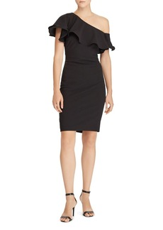 Lauren Ralph Lauren Ruffle Crepe Dress - 100% Exclusive