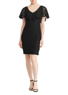 Lauren Ralph Lauren Ruffle-Flounce Lace Dress