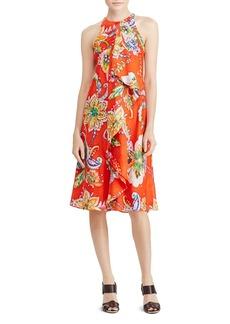 Lauren Ralph Lauren Ruffle Front Floral Paisley Dress