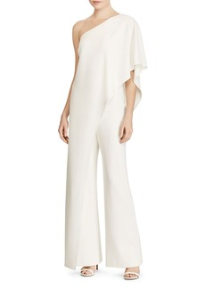 Lauren Ralph Lauren Ruffle One-Shoulder Jumpsuit