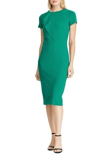 Lauren Ralph Lauren Ruffle-Trimmed Crepe Dress