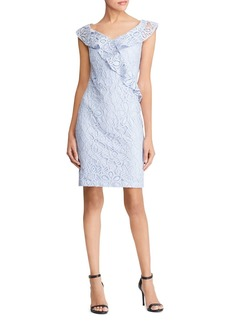 Lauren Ralph Lauren Ruffle-Trimmed Lace Dress - 100% Exclusive