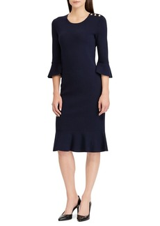 Lauren Ralph Lauren Ruffle-Trimmed Shift Dress