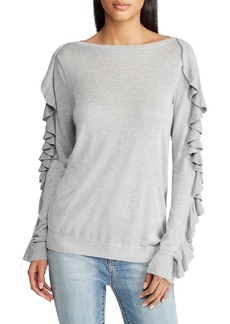 Lauren Ralph Lauren Ruffled Boatneck Sweater