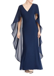 Lauren Ralph Lauren Ruffled Cape Gown - 100% Exclusive