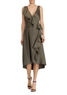 Lauren Ralph Lauren Ruffled Faux-Wrap Dress
