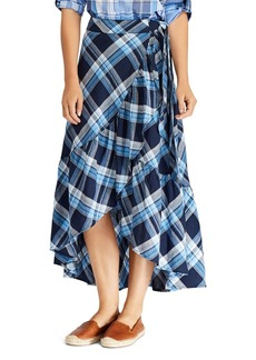 Lauren Ralph Lauren Ruffled High/Low Midi Skirt