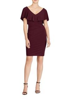 Lauren Ralph Lauren Ruffled Jersey Sheath Dress