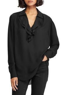 Lauren Ralph Lauren Ruffled Long-Sleeve Top