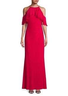 Lauren Ralph Lauren Ruffled Off-the-Shoulder Gown