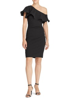 Lauren Ralph Lauren Ruffled One-Shoulder Dress