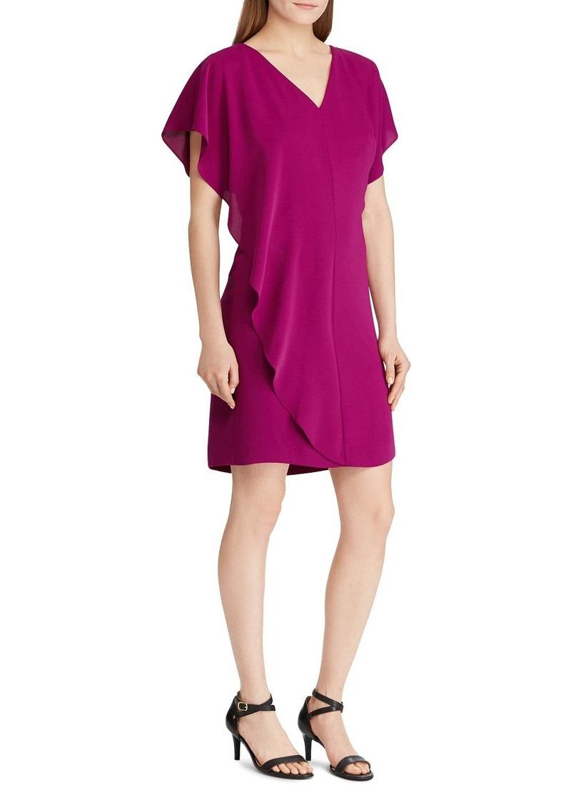 Lauren Ralph Lauren Ruffled-Overlay Dress