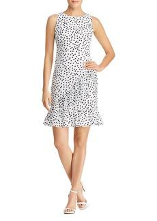 Lauren Ralph Lauren Petites Ruffled Polka Dot Dress