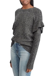 Lauren Ralph Lauren Ruffled Wool-Blend Sweater